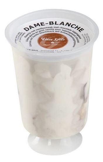 Bild von Vanille mit Schokososse Eiskrem Pokalbecher